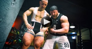 This Cyclist Goes Head to Head With a Bodybuilder in an Incredible Squat Contest