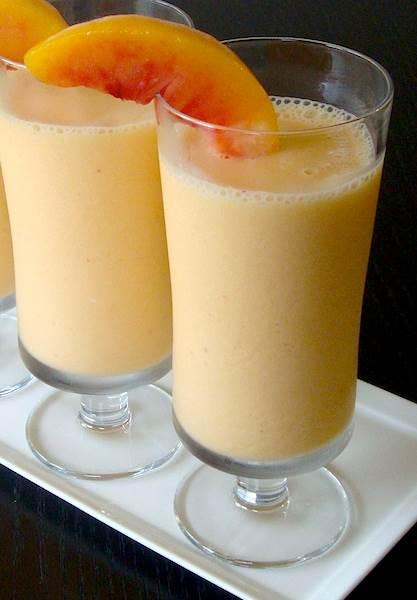 peach protein shake