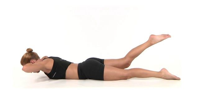 lower back pain exercises - prone leg extension