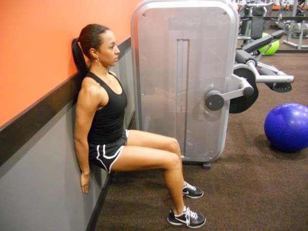lower back pain exercises - wall squats