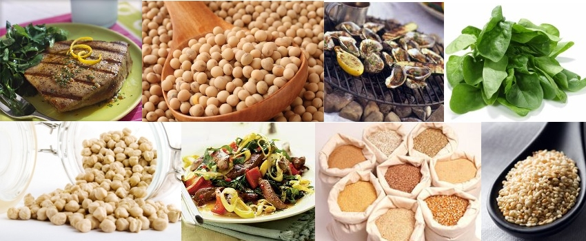 the top 8 foods rich in iron