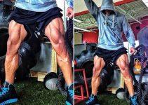 Dwayne Johnson woorkout legs