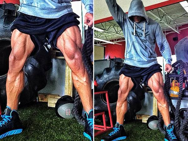 Dwayne Johnson woorkout legs