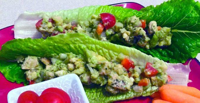 chicken-avocado-lettuce-wrap