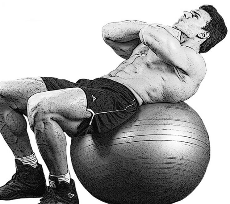 stability-ball-crunches
