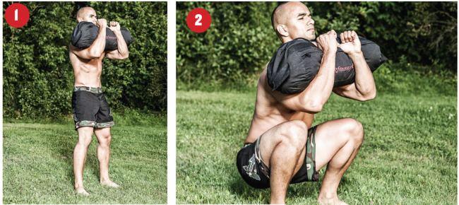 sandbag-squat