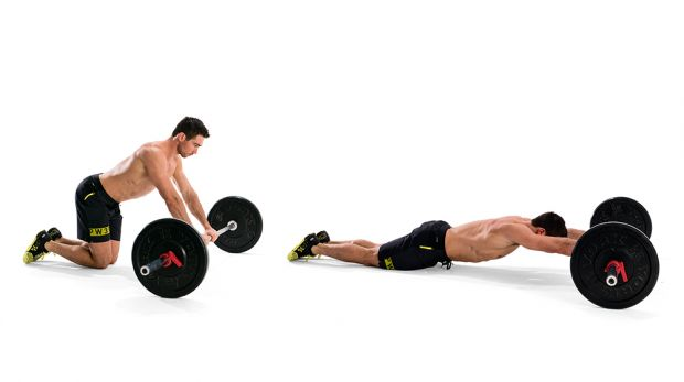 barbell-roll-out