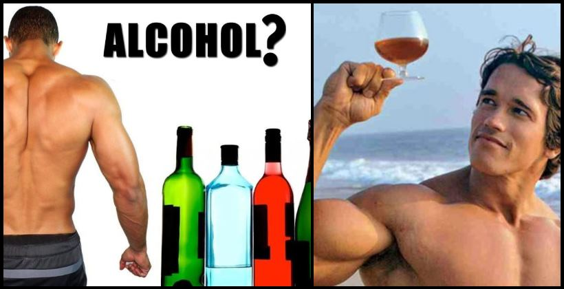 alcohol-muscle-building