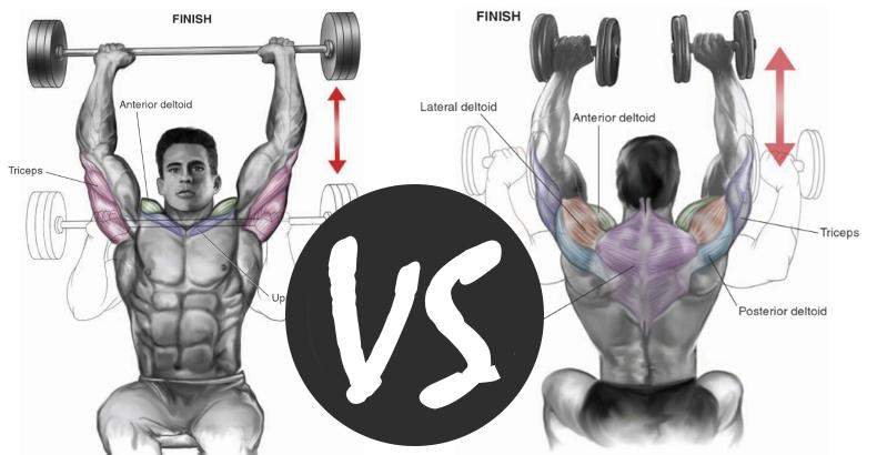 Dumbbell VS Barbell Shoulder Press - Proper Technique & Benefits ...