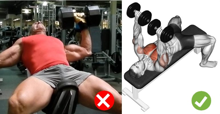 Dumbbell Bench Press Technique Common Mistakes Fitness And Power