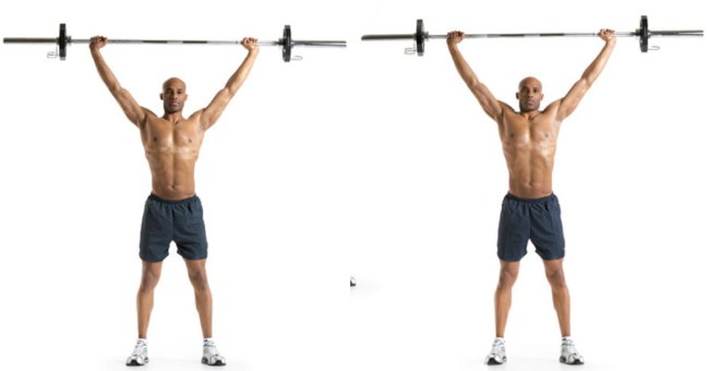 overhead-barbell-shrug