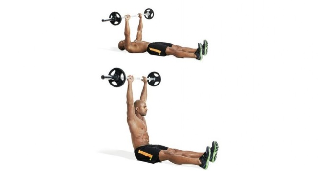 barbell-straight-leg-sit-up
