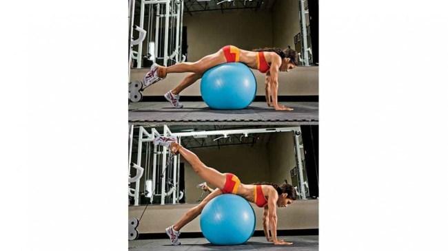 single-leg-stability-ball-glute-cable-kickback