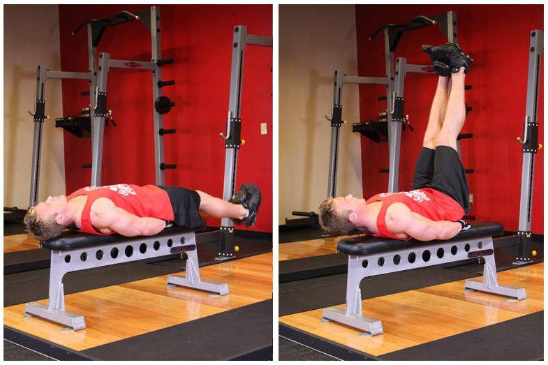 flat-bench-lying-leg-raise